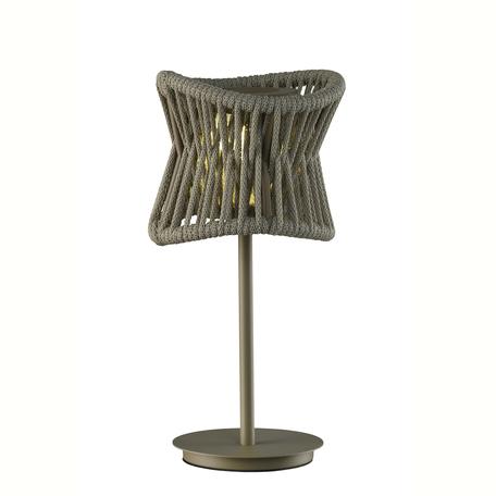 Садовый светодиодный светильник Mantra Polinesia 7135, IP44, LED 2,2W 3000K 170lm CRI80, коричневый, металл, текстиль