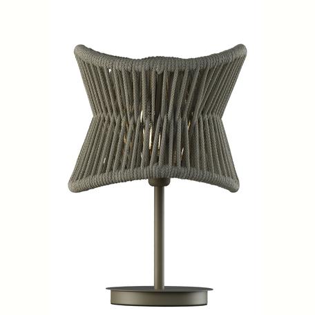 Садовый светильник Mantra Polinesia 7137, IP44, 1xE27x20W, коричневый, металл, текстиль