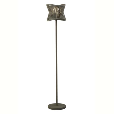 Садовый светильник Mantra Polinesia 7138, IP44, 1xE27x20W, коричневый, металл, текстиль