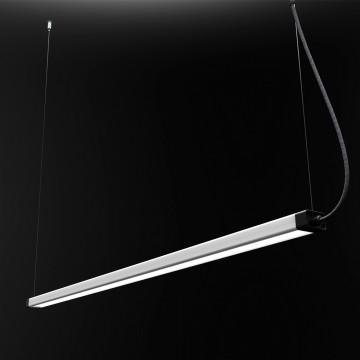 Подвесной светодиодный светильник Nowodvorski H LED 8910, LED 36W 3000K 2700lm, черный, металл