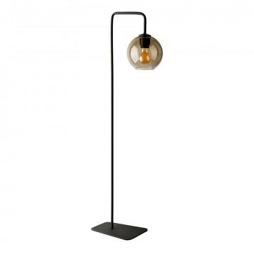 Торшер Nowodvorski Monaco 8794, 1xE27x60W, черный, дымчатый, металл, стекло