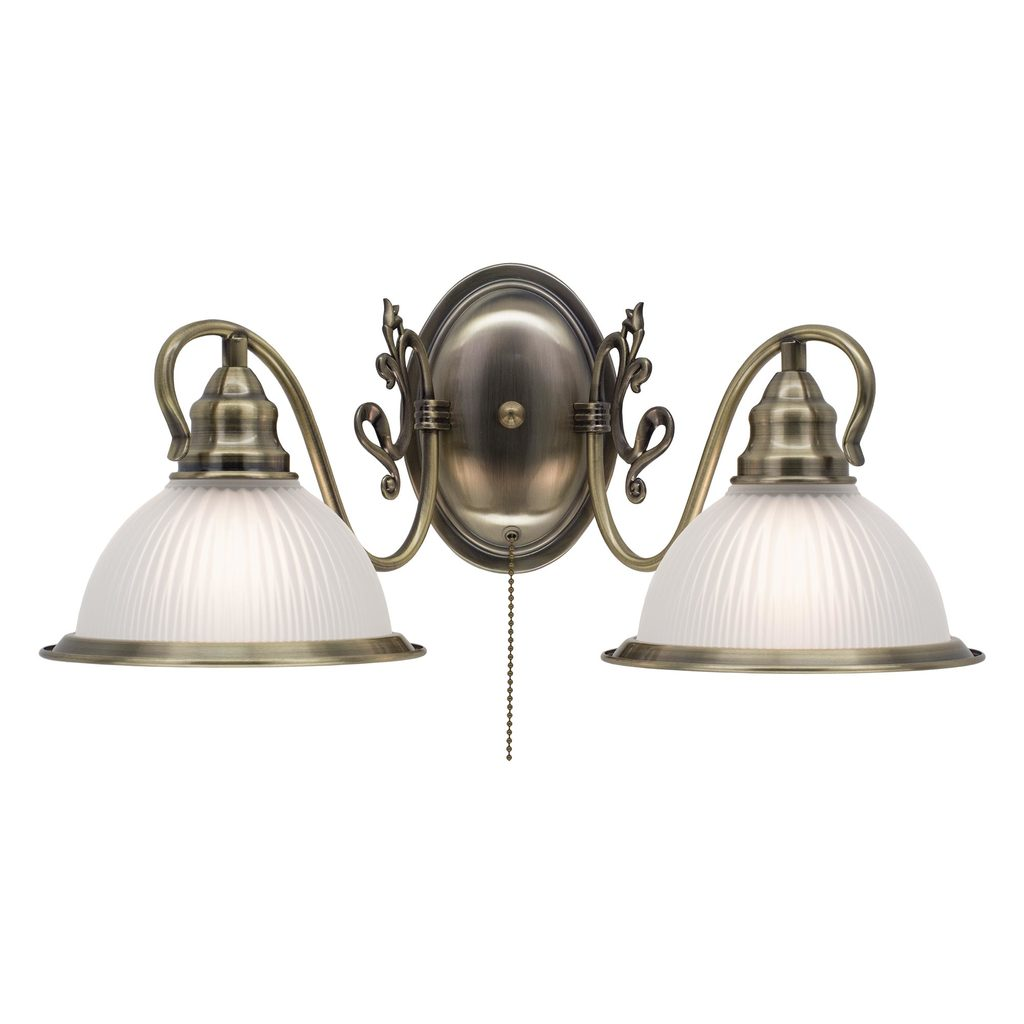 Бра Citilux Идальго CL434321, 2xE27x75W, бронза, белый, металл, стекло - фото 1