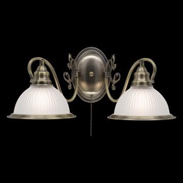 Бра Citilux Идальго CL434321, 2xE27x75W, бронза, белый, металл, стекло - миниатюра 2