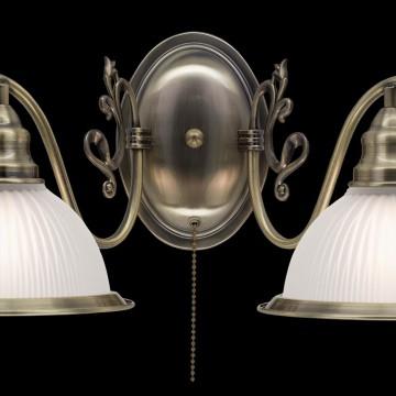 Бра Citilux Идальго CL434321, 2xE27x75W, бронза, белый, металл, стекло - миниатюра 4