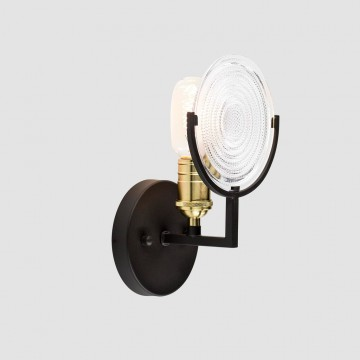 Бра Citilux Тесла CL445311, 1xE27x75W, венге, прозрачный, металл, стекло - миниатюра 2
