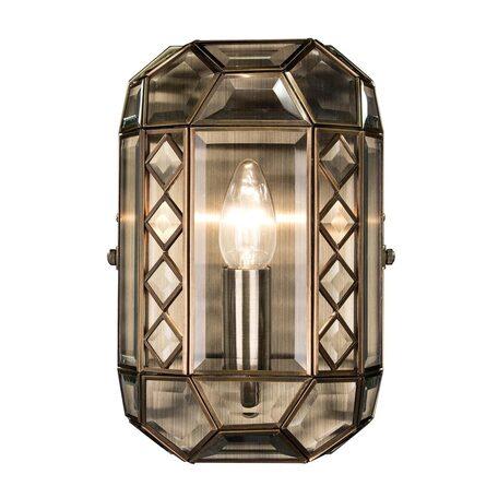 Бра Citilux Фасет CL441310, 1xE14x60W, бронза, прозрачный, металл, стекло