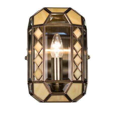 Бра Citilux Фасет CL441311, 1xE14x60W, бронза, бежевый, металл, стекло
