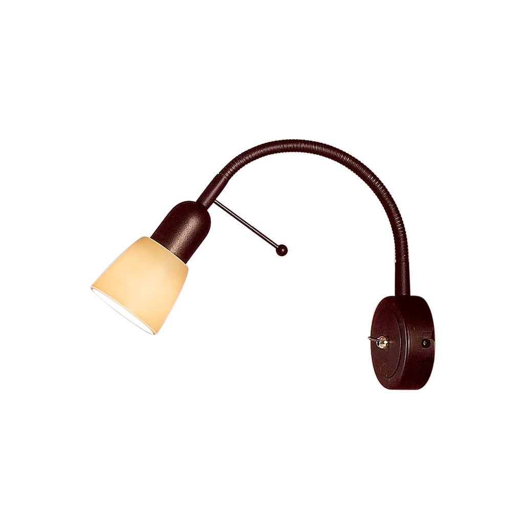Настенный светильник с регулировкой направления света Citilux Ронда CL506314, 1xE14x60W, коричневый, бежевый, металл, стекло - фото 1