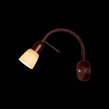Настенный светильник с регулировкой направления света Citilux Ронда CL506314, 1xE14x60W, коричневый, бежевый, металл, стекло - миниатюра 2