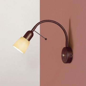 Настенный светильник с регулировкой направления света Citilux Ронда CL506314, 1xE14x60W, коричневый, бежевый, металл, стекло - миниатюра 3
