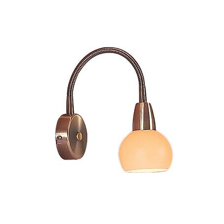 Настенный светильник с регулировкой направления света Citilux Бонго CL516313, 1xE14x60W, бронза, бежевый, металл, стекло