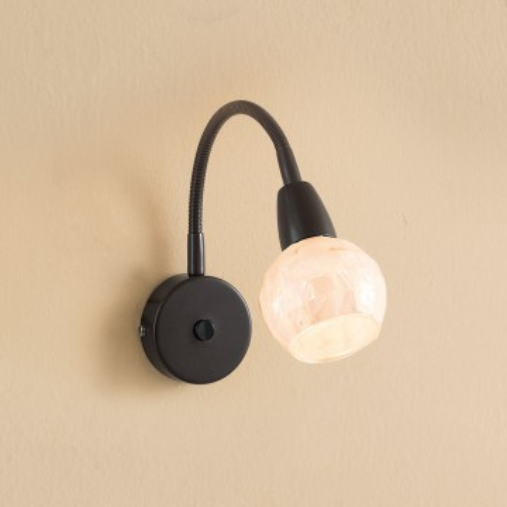 Настенный светильник с регулировкой направления света Citilux Соната CL520315, 1xE14x60W, коричневый, бежевый, металл, стекло