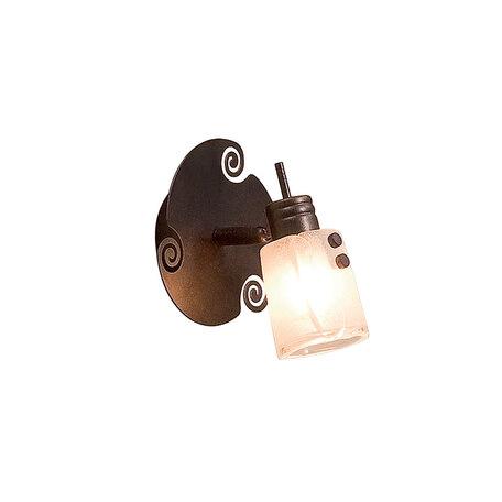 Настенный светильник с регулировкой направления света Citilux Верона CL513511, 1xG9x40W, коричневый, белый, металл, стекло