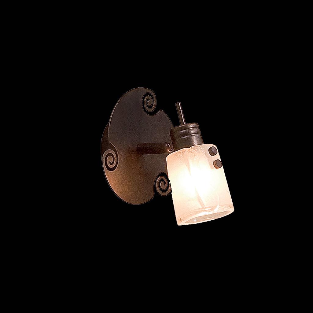 Настенный светильник с регулировкой направления света Citilux Верона CL513511, 1xG9x40W, коричневый, белый, металл, стекло - фото 2