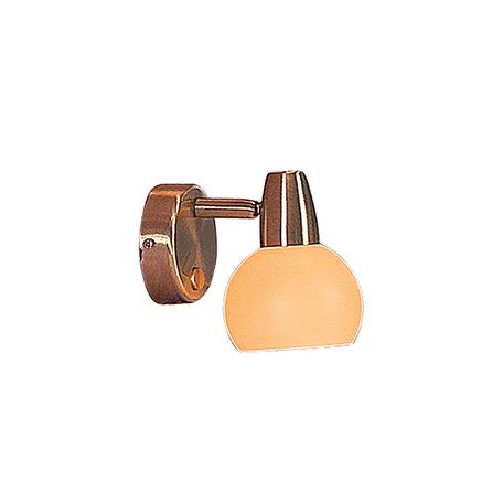 Настенный светильник с регулировкой направления света Citilux Бонго CL516513, 1xE14x60W, бронза, бежевый, металл, стекло