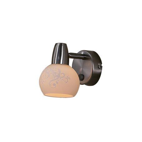 Настенный светильник с регулировкой направления света Citilux Соната CL520511, 1xE14x60W, матовый хром, белый, металл, стекло