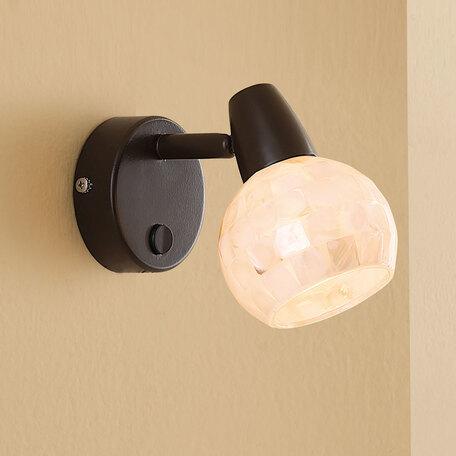 Настенный светильник с регулировкой направления света Citilux нет CL520515, 1xE14x60W, коричневый, бежевый, металл, стекло