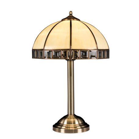 Настольная лампа Citilux Шербург-1 CL440811, 1xE14x60W, бронза, бежевый, металл, стекло