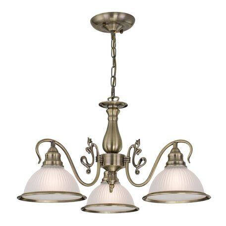 Подвесная люстра Citilux Идальго CL434131, 3xE27x75W, бронза, белый, металл, стекло - миниатюра 1