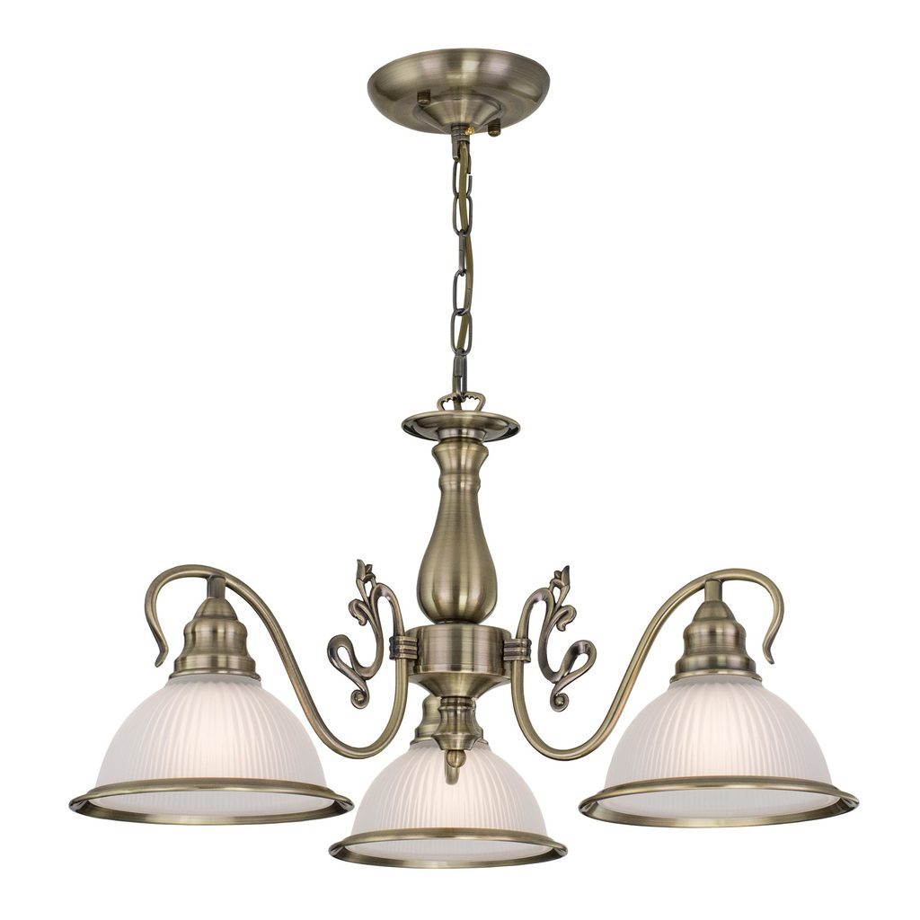 Подвесная люстра Citilux Идальго CL434131, 3xE27x75W, бронза, белый, металл, стекло - фото 1