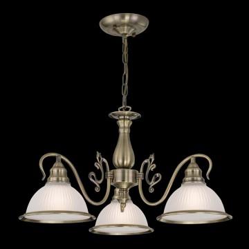 Подвесная люстра Citilux Идальго CL434131, 3xE27x75W, бронза, белый, металл, стекло - миниатюра 2