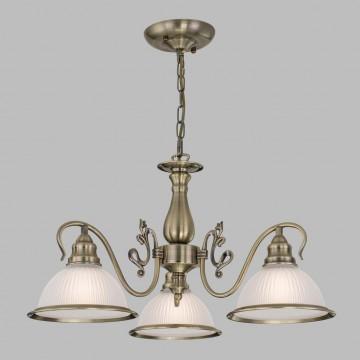 Подвесная люстра Citilux Идальго CL434131, 3xE27x75W, бронза, белый, металл, стекло - миниатюра 3