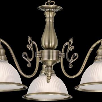 Подвесная люстра Citilux Идальго CL434131, 3xE27x75W, бронза, белый, металл, стекло - миниатюра 4