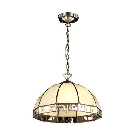 Подвесная люстра Citilux Шербург-1 CL440131, 3xE27x75W, бронза, бежевый, прозрачный, металл, стекло