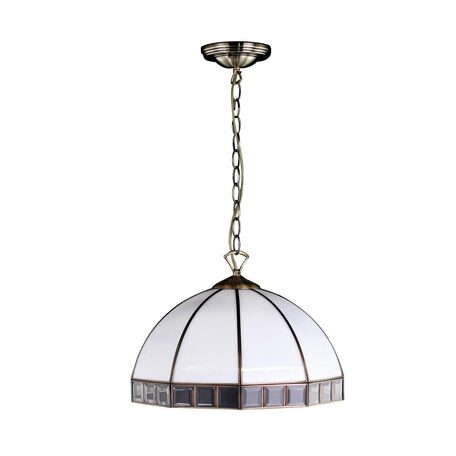 Подвесная люстра Citilux Шербург-1 CL440132, 3xE27x75W, бронза, белый, прозрачный, металл, стекло