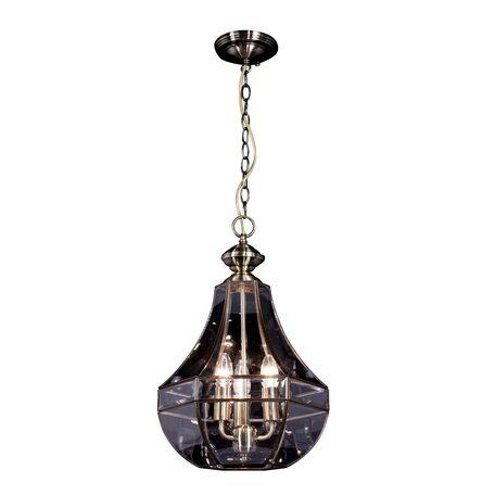 Подвесная люстра Citilux Гера-1 CL444130, 3xE14x60W, бронза, прозрачный, металл, стекло - миниатюра 1