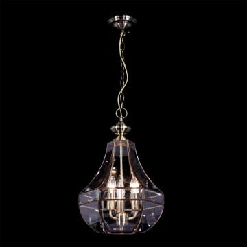 Подвесная люстра Citilux Гера-1 CL444130, 3xE14x60W, бронза, прозрачный, металл, стекло - миниатюра 2