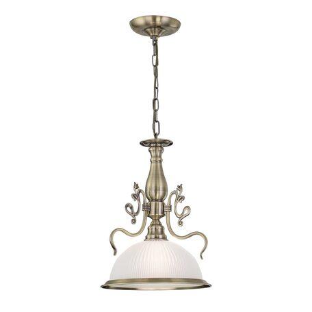 Подвесной светильник Citilux Идальго CL434111, 1xE27x75W, бронза, белый, металл, стекло