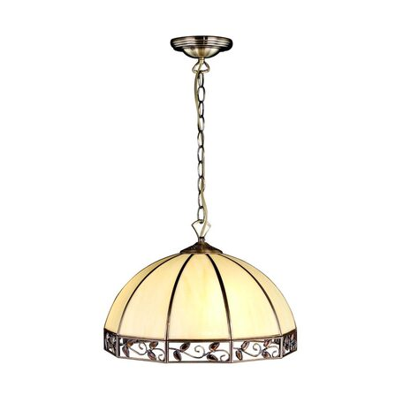Подвесной светильник Citilux Шербург-1 CL440231, 1xE27x75W, бронза, бежевый, янтарь, металл, стекло