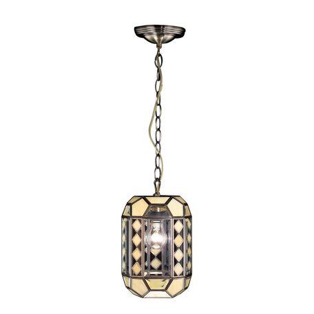 Подвесной светильник Citilux Фасет CL441111, 1xE27x75W, бронза, бежевый, металл, стекло