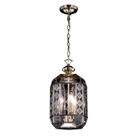 Подвесной светильник Citilux Фасет CL441130, 1xE14x60W, бронза, прозрачный, металл, стекло