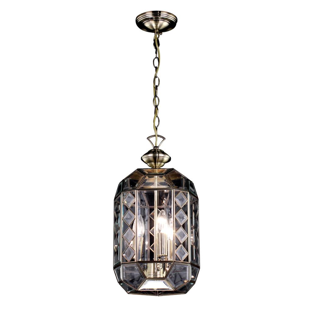 Подвесной светильник Citilux Фасет CL441130, 1xE14x60W, бронза, прозрачный, металл, стекло - фото 1