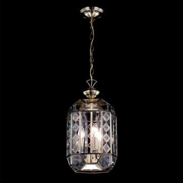 Подвесной светильник Citilux Фасет CL441130, 1xE14x60W, бронза, прозрачный, металл, стекло - миниатюра 2
