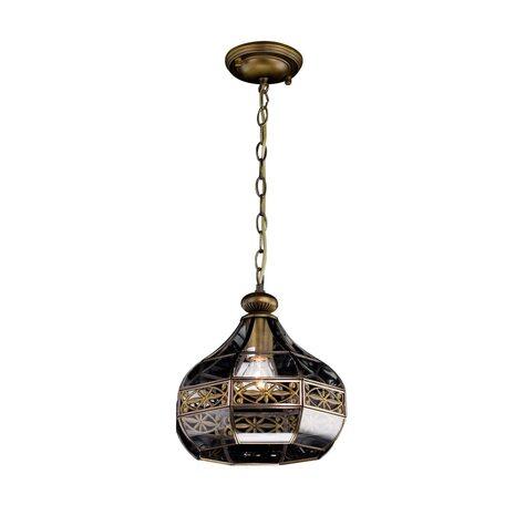 Подвесной светильник Citilux Гера-2 CL444210, 1xE27x75W, бронза, прозрачный, металл, стекло