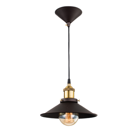Подвесной светильник Citilux Эдисон CL450101, 1xE27x100W, бронза, черный, коричневый, металл - миниатюра 1