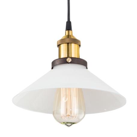 Подвесной светильник Citilux Эдисон CL450102, 1xE27x100W, бронза, черный, белый, металл, стекло
