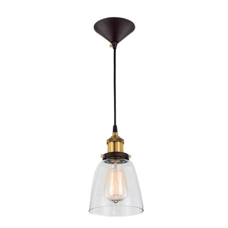 Подвесной светильник Citilux Эдисон CL450103, 1xE27x100W, бронза, черный, прозрачный, металл, стекло