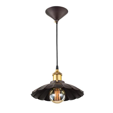 Подвесной светильник Citilux Эдисон CL450104, 1xE27x100W, бронза, черный, коричневый, металл