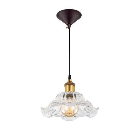 Подвесной светильник Citilux Эдисон CL450105, 1xE27x75W, бронза, черный, прозрачный, металл, стекло