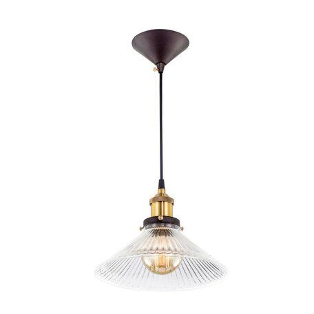Подвесной светильник Citilux Эдисон CL450106, 1xE27x75W, бронза, черный, прозрачный, металл, стекло