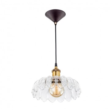 Подвесной светильник Citilux Эдисон CL450107, 1xE27x75W, бронза, черный, прозрачный, металл, стекло