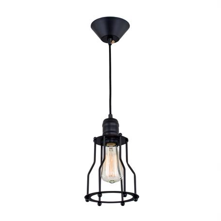 Подвесной светильник Citilux Эдисон CL450201, 1xE27x60W, черный, металл