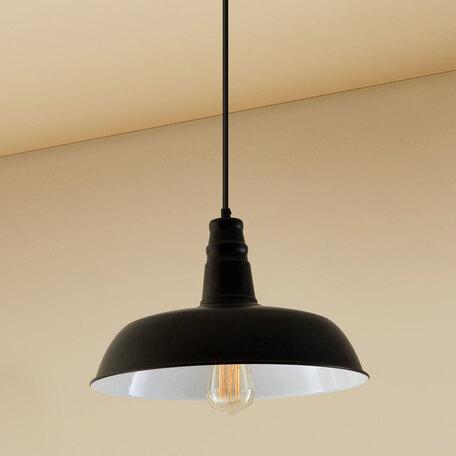 Подвесной светильник Citilux Эдисон CL450205, 1xE27x60W, черный, металл