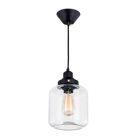 Подвесной светильник Citilux Эдисон CL450206, 1xE27x60W, черный, прозрачный, металл, стекло