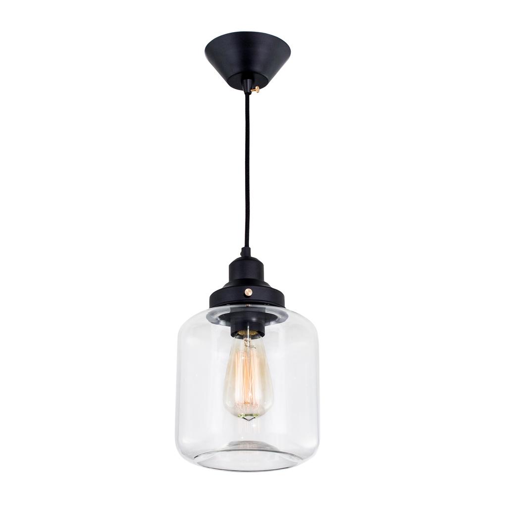 Подвесной светильник Citilux Эдисон CL450206, 1xE27x60W, черный, прозрачный, металл, стекло - фото 1