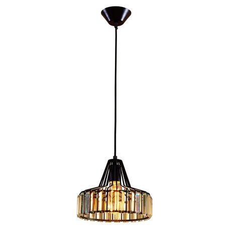 Подвесной светильник Citilux Эдисон CL450211, 1xE27x75W, черный, прозрачный, металл, хрусталь
